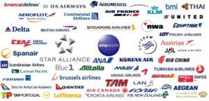 Foto dei loghi delle compagnie aeree