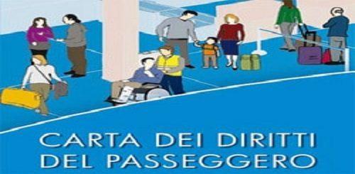 Copertina dell'opuscolo della carta dei diritti del passeggero