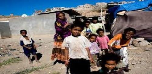 Bambini in uno slum africano