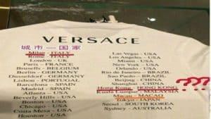 Maglietta Cina Donatella Versace