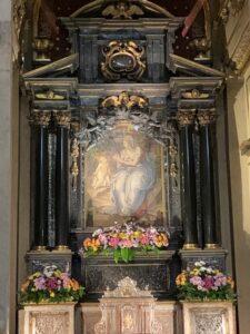 Affresco originale del Bertone all'interno della Basilica della Ghiara