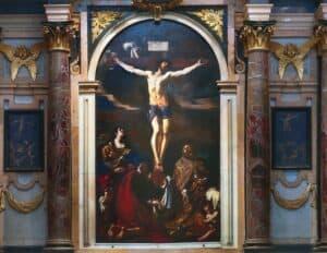 """Cristo Crocifisso del Guercino - foto credit """"basilicaghiara.it"""""""